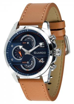Zegarek Męski Guardo Premium B01318-3 na pasku