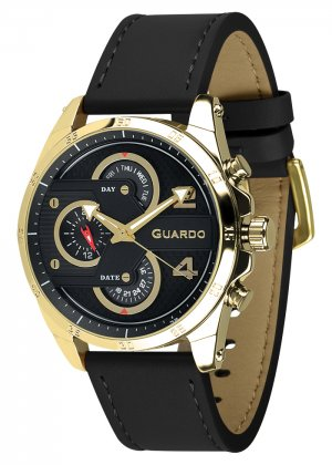 Zegarek Męski Guardo Premium B01318-4 na pasku